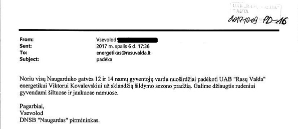 PD-16 DNSB Naugardas - Viktorui Kovalevskiui