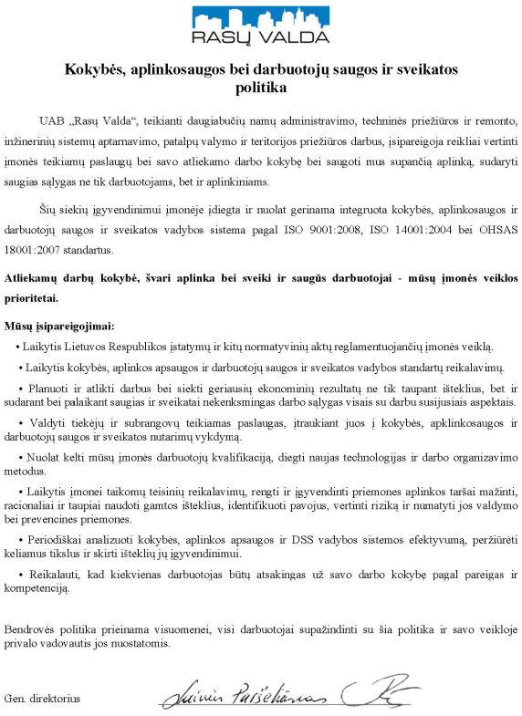 RV-ISO-OHSAS-politika